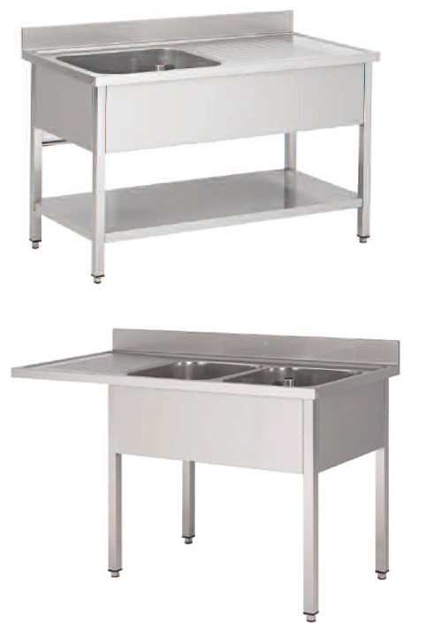 Mobilier inox professionnel plonges tables tag res for Meuble inox professionnel