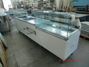 vitrine refrigeree et topping