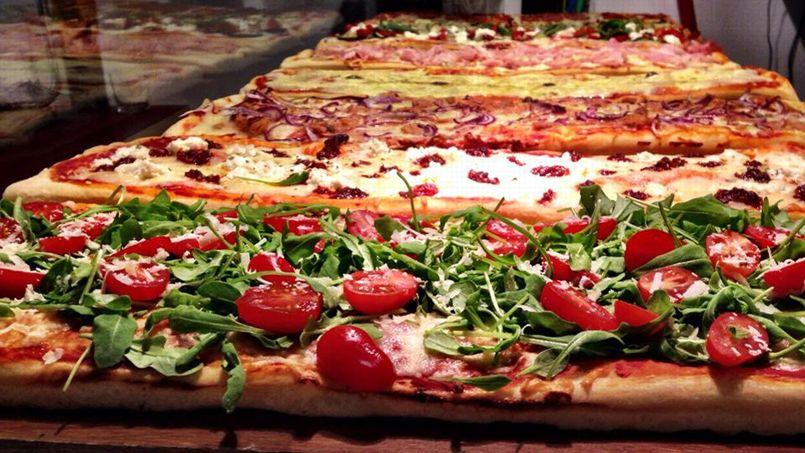 plaque de pizza a la portion